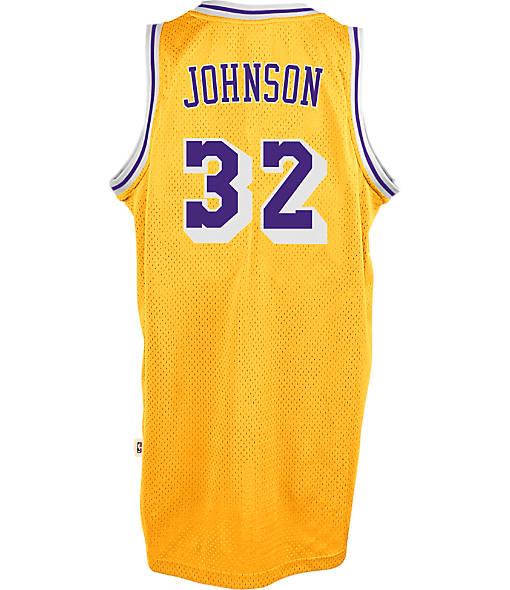 Men's adidas Los Angeles Lakers NBA Magic Johnson Soul Jersey