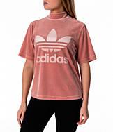 Women's adidas Originals Velvet Vibes High Neck Boxy T-Shirt