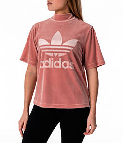Women's adidas Originals Velvet Vibes High Neck Boxy T-Shirt Product Image