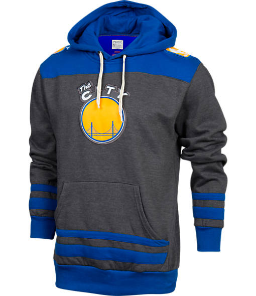 Men's Majestic Golden State Warriors NBA Double-Double Pullover Hoodie