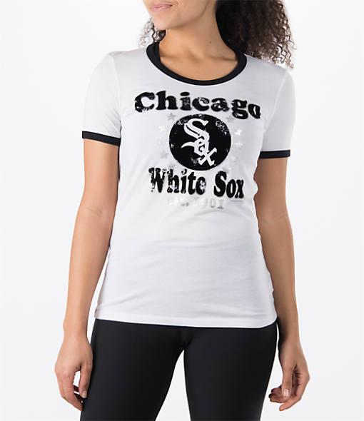 Women's New Era Chicago White Sox MLB Vintage Ringer T-Shirt