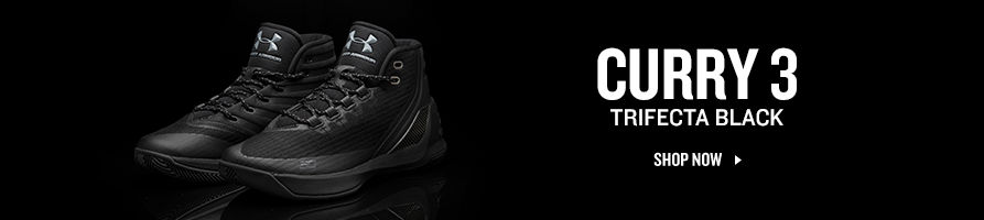Curry 3. Trifecta Black. Shop Now.