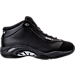 Right view of Men's AND1 Tai Chi Mid Leather Basketball Shoes in Triple Black