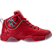 Right view of Men's AND1 Coney Island Classic Basketball Shoes in Red/White/Black