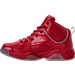 Left view of Men's AND1 Coney Island Classic Basketball Shoes in Red/White/Black