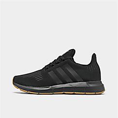 아디다스 Adidas Mens adidas Swift Run Running Shoes,Core Black/Gum