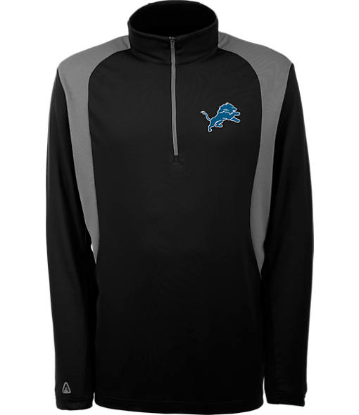 Men's Antigua Detroit Lions NFL Delta Quarter Zip Shirt