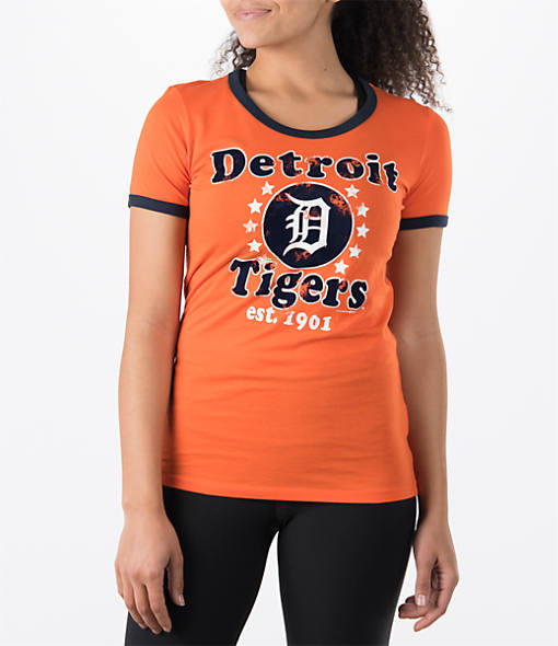 Women's New Era Detroit Tigers MLB Vintage Ringer T-Shirt