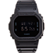 Front view of Casio G-Shock Blackout Digital Watch in Matte Black