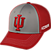 Front view of Top Of The World Indiana Hoosiers College Dynamic Flex Fit Hat in Team Colors