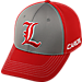 Front view of Top Of The World Louisville Cardinals College Dynamic Flex Fit Hat in Team Colors