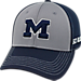Front view of Top Of The World Michigan Wolverines College Dynamic Flex Fit Hat in Team Colors