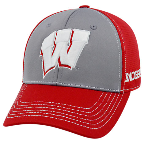 Top Of The World Wisconsin Badgers College Dynamic Flex Fit Hat