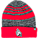 Front view of Top of the World Ball State Cardinals College Echo Knit Hat in Team Colors
