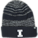 Front view of Top of the World Illinois Fighting Illini College Echo Knit Hat in Team Colors