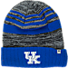 Front view of Top of the World Kentucky Wildcats College Echo Knit Hat in Team Colors