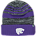 Front view of Top of the World Kansas State Wildcats College Echo Knit Hat in Team Colors