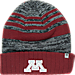 Front view of Top of the World Minnesota Golden Gophers College Echo Knit Hat in Team Colors