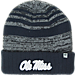 Front view of Top of the World Mississippi Rebels College Echo Knit Hat in Team Colors