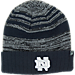 Front view of Top of the World Notre Dame Fighting Irish College Echo Knit Hat in Team Colors