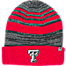 Front view of Top of the World Texas Tech Red Raiders College Echo Knit Hat in Team Colors