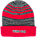 Back view of Top of the World Texas Tech Red Raiders College Echo Knit Hat in Team Colors