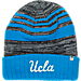 Front view of Top of the World UCLA Bruins College Echo Knit Hat in Team Colors