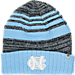 Front view of Top of the World North Carolina Tar Heels College Echo Knit Hat in Team Colors