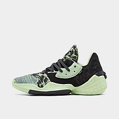 아디다스 Adidas Mens adidas Harden Vol 4 Basketball Shoes,Glow Green/Carbon/Glow Green
