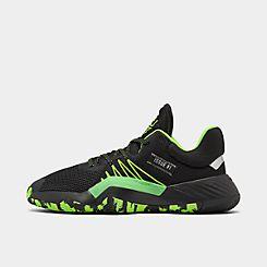 아디다스 Adidas Mens adidas DON Issue #1 Basketball Shoes,Core Black/Team Solar Green/Silver