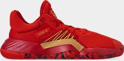 아디다스 Adidas Mens adidas D.O.N. Issue #1 Basketball Shoes,Red/Power Red/Gold Metallic