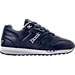 Right view of Men's Etonic Trans Am Leather Casual Shoes in Navy/White/Grey