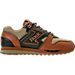 Right view of Men's Etonic Trans AM Ghurka Casual Shoes in Orange Brown/Dark Olive