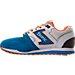 Left view of Men's Etonic Trans AM Perf Casual Shoes in Teal/White/Orange