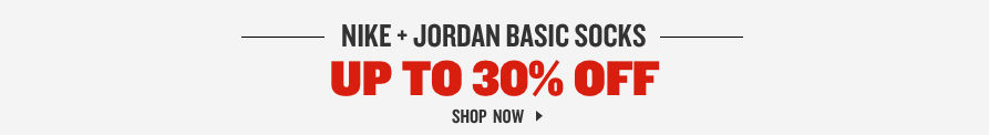 Nike and Jordan Socks Up To 30% Off