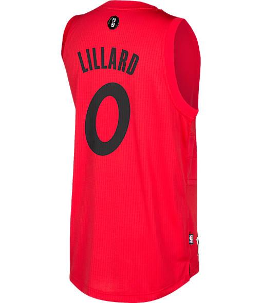 Men's adidas Portland Trail Blazers NBA Damian Lillard Christmas Swingman Jersey
