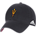 Front view of adidas Arizona State Sun Devils College Spring Game Adjustable Hat in 018