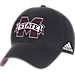 Front view of adidas Mississippi State Bulldogs College Spring Game Adjustable Hat in 018