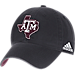Front view of adidas Texas A&M Aggies College Spring Game Adjustable Hat in 018