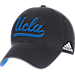 Front view of adidas UCLA Bruins College Spring Game Adjustable Hat in 018
