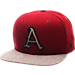 Front view of Zephyr Arkansas Razorbacks College Executive Snapback Hat in Team Colors/Grey