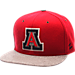 Front view of Zephyr Arizona Wildcats College Executive Snapback Hat in Team Colors/Grey