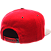 Back view of Zephyr Arizona Wildcats College Executive Snapback Hat in Team Colors/Grey