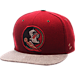 Front view of Zephyr Florida State Seminoles College Executive Snapback Hat in Team Colors/Grey