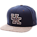 Front view of Zephyr Kentucky Wildcats College Executive Snapback Hat in Team Colors/Grey