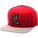 Front view of Zephyr Louisville Cardinals College Executive Snapback Hat in Team Colors/Grey