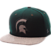 Front view of Zephyr Michigan State Spartans College Executive Snapback Hat in Team Colors/Grey