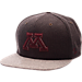 Front view of Zephyr Minnesota Golden Gophers College Executive Snapback Hat in Team Colors/Grey