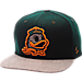 Front view of Zephyr Oregon Ducks College Executive Snapback Hat in Team Colors/Grey