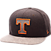Front view of Zephyr Tennessee Volunteers College Executive Snapback Hat in Team Colors/Grey